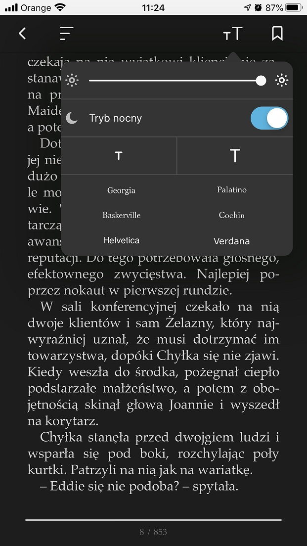 ebook tryb nocny